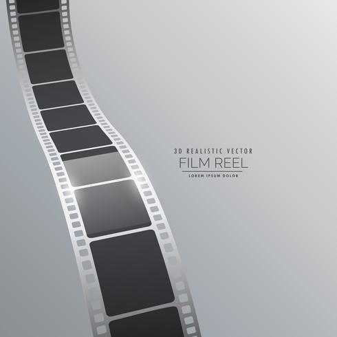 Vektor 3d Filmstreifen Hintergrunddesign