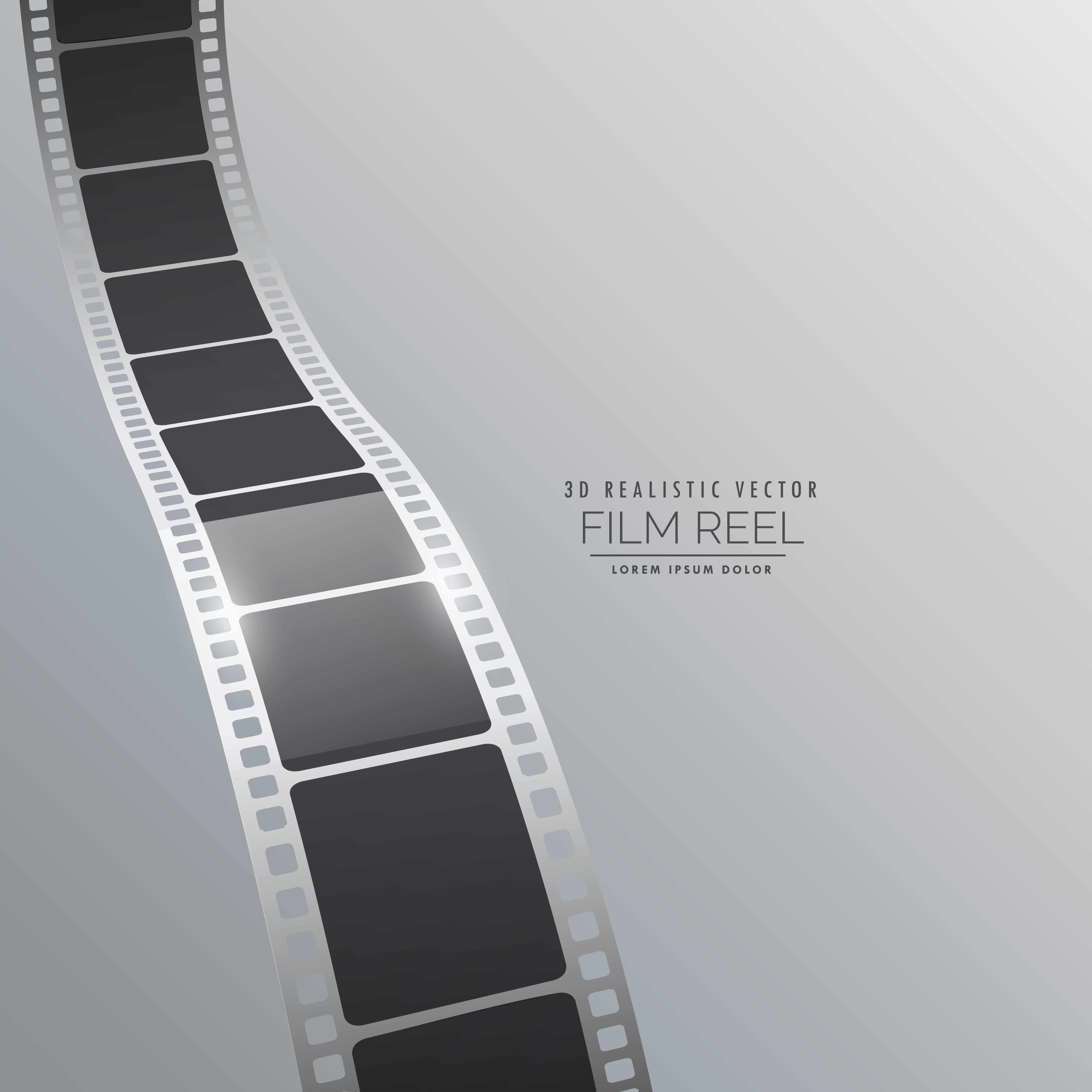 vector 3d film strip background design - Download Free ...
