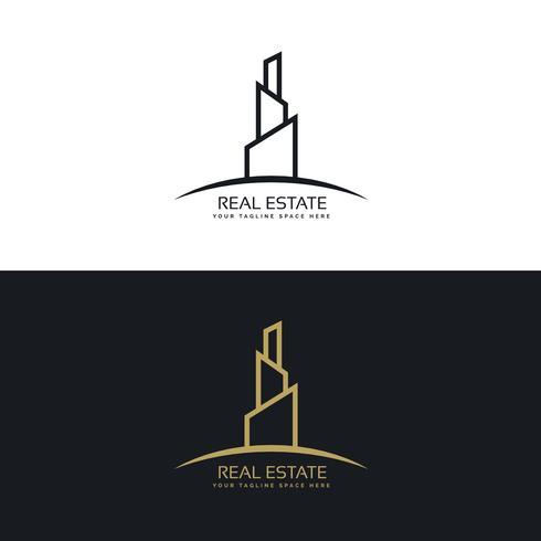 real estate building business logo design concept