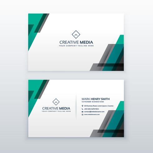 professional clean business card design