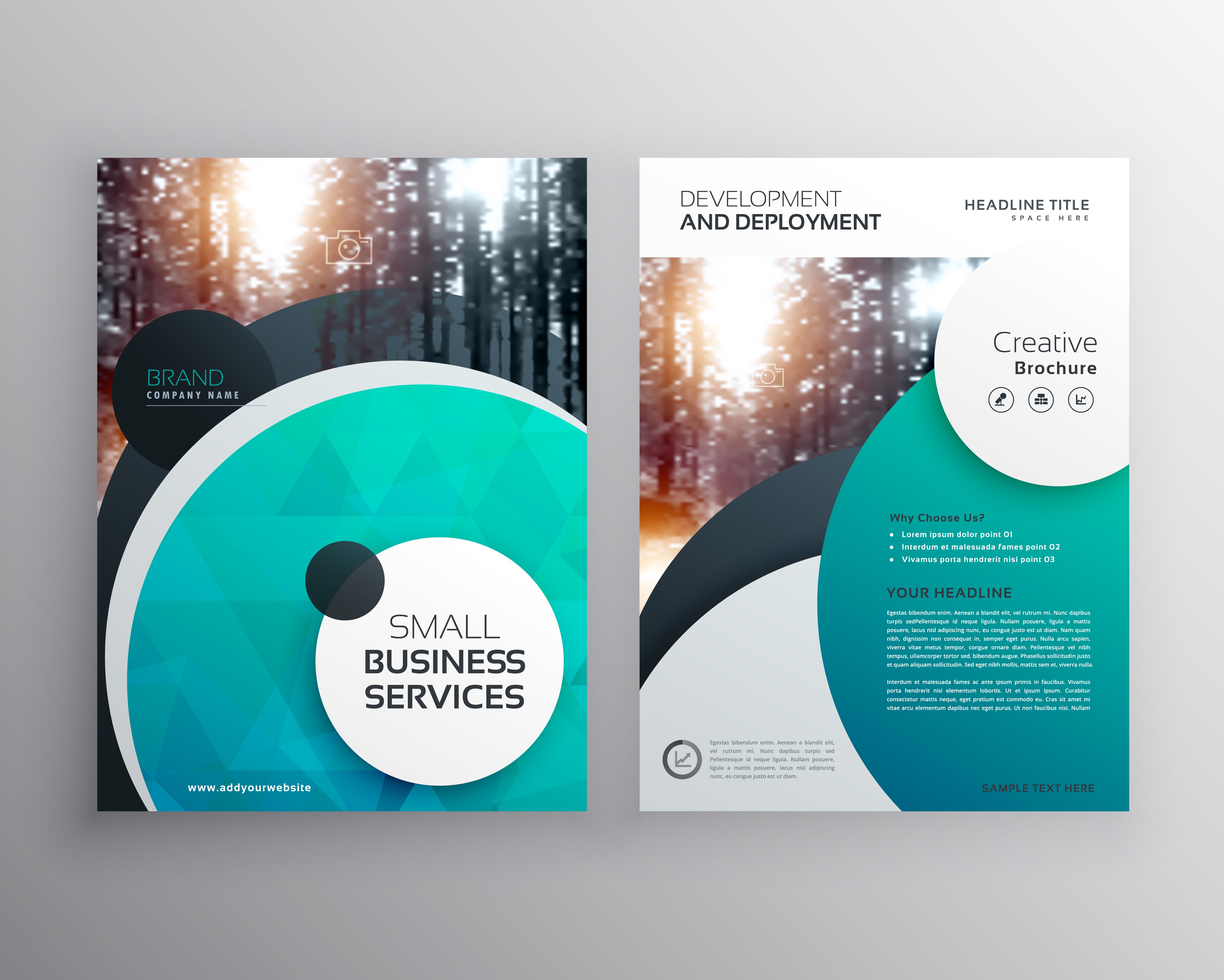 Creative Book Cover Questions : Creative blue business flyer brochure design template with