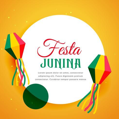 festival do brasil do projeto do cartaz do junina do festa