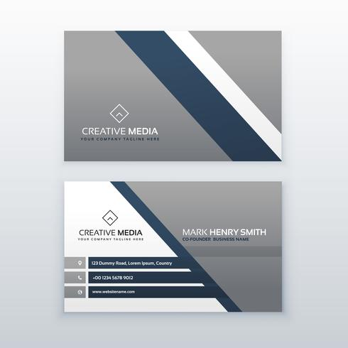 professional modern business card creative template design