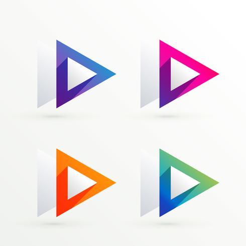 elegant triangle symbol banner set