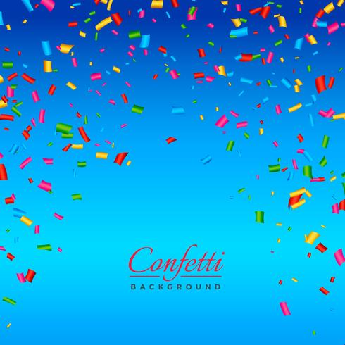 background with colorful confetti vector