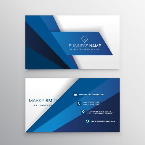 blue and white corporate business card design