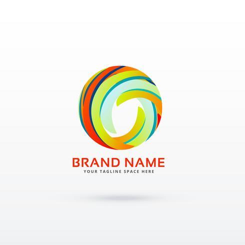 abstract circle logo design concept