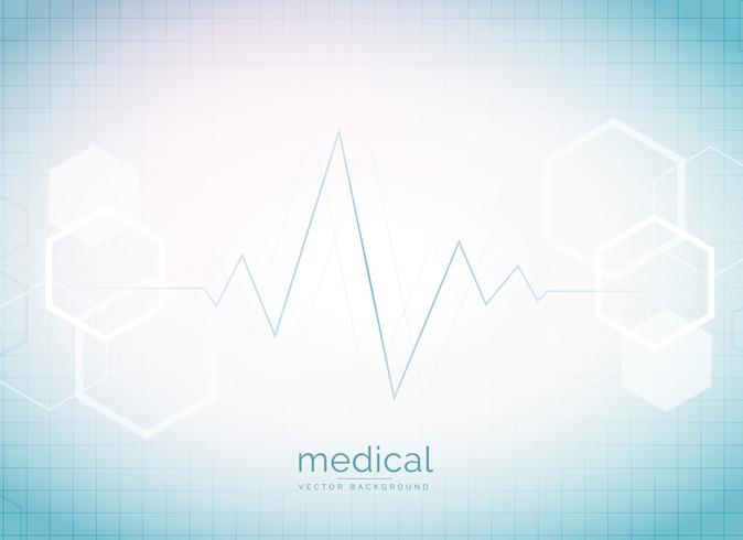 abstract medical and healthcare background with heart beat and h