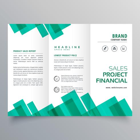 elegant geometric business brochure vector design template