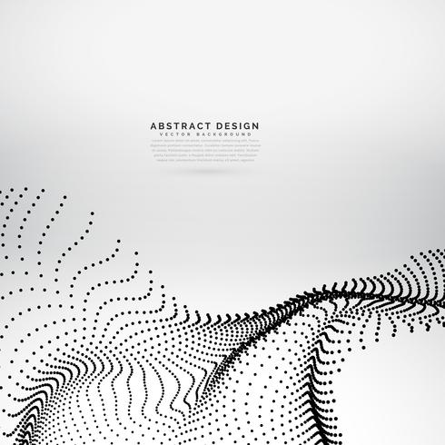 abstract wavy particles array background