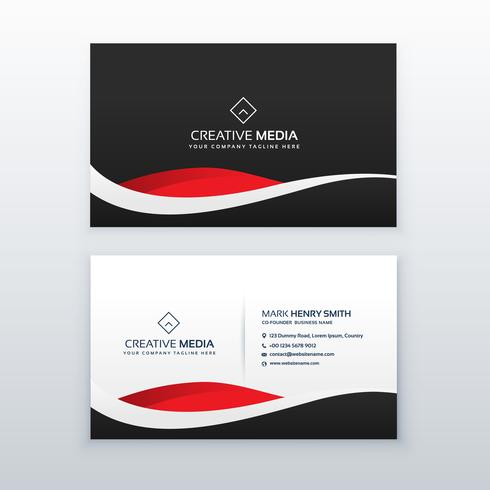 Creative dark business card vector design download vetores e creative dark business card vector design reheart Images
