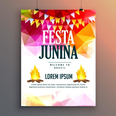 festa junina celebration party poster design background