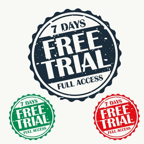 free trial stamp set