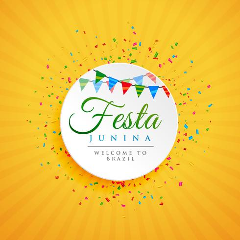 june festival of brazil festa junina background with confetti
