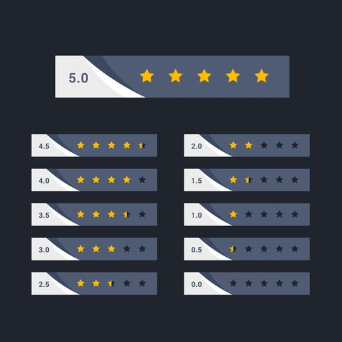 stylish five star rating concept design