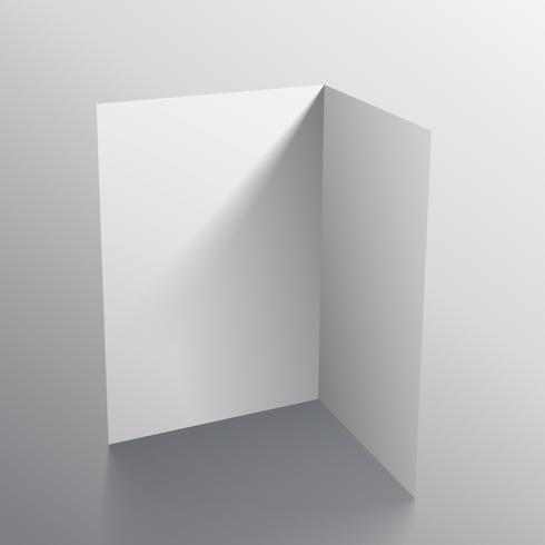 3d white black paper card mockup