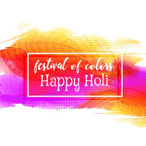 creative happy holi festival background