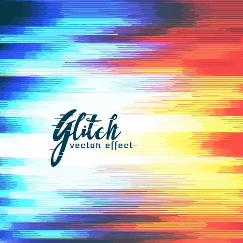 abstract glitch distort effect vector