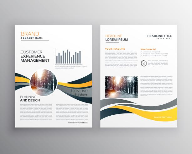 creative annual report business brochure design template