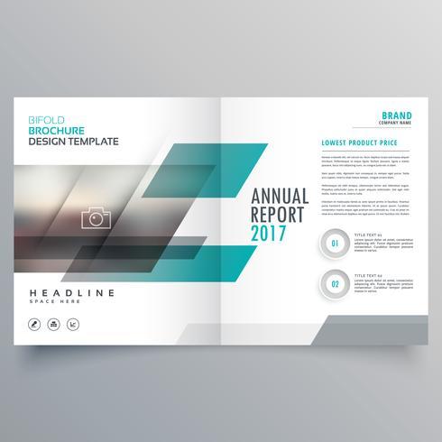 Diseño de plantilla de portada de revista de negocios de marca con abstra