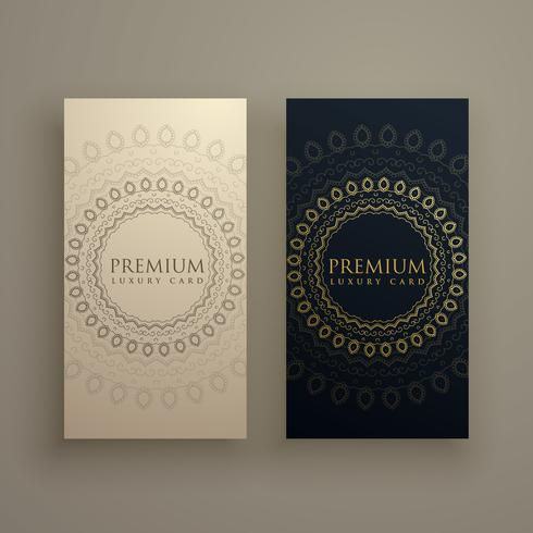 mandala card or banners in premium golden style