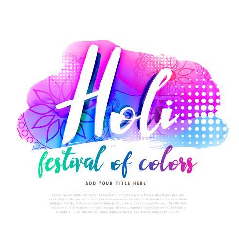 conception d'affiche créative joyeux holi