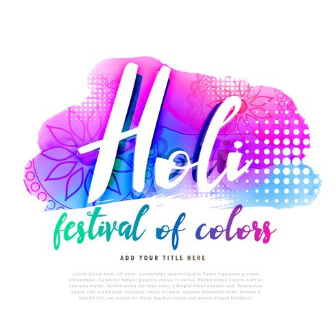 creative happy holi poster design