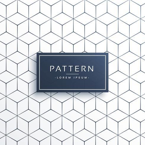 Línea geométrica mínima patrón de fondo en forma hexagonal