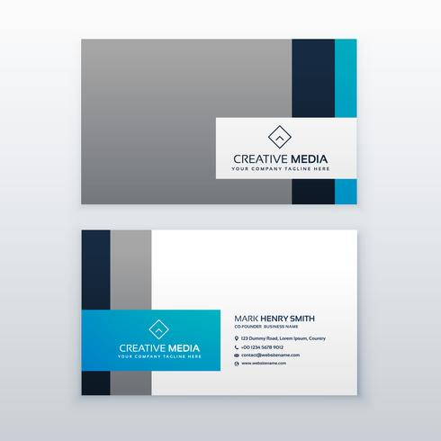 professional gray and blue business card design template