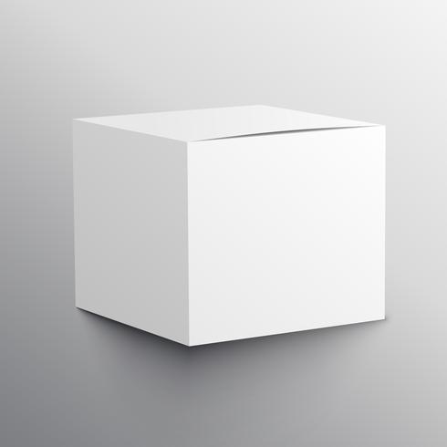 diseño de plantilla realista maqueta caja vacía