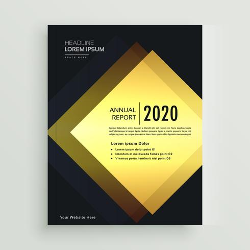 premium golden business brochure design