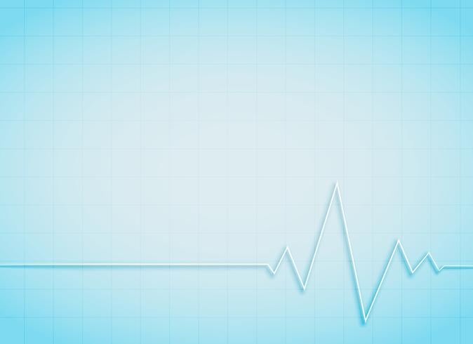 clean medical and healthcare background with heart beat