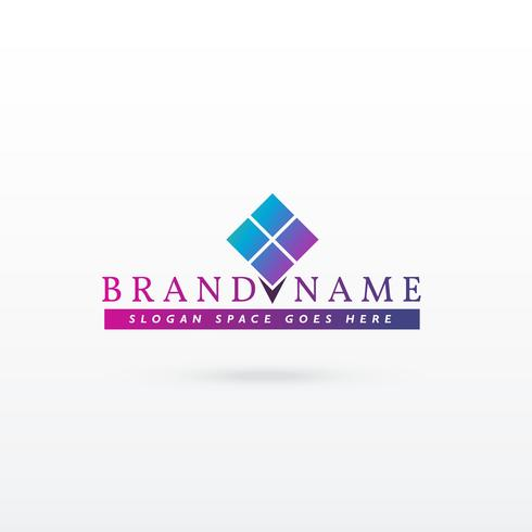 diseño de logo marca concepto vector