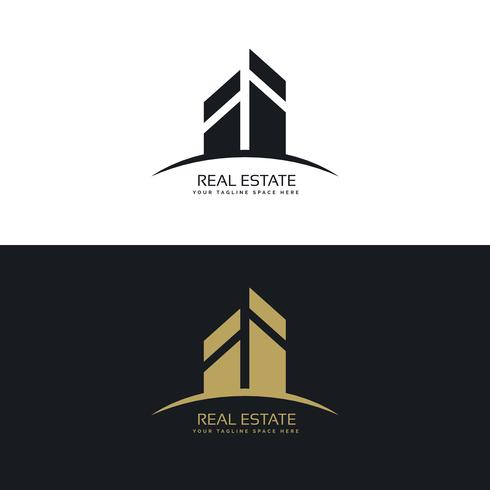 modern clean real estate logo design concept