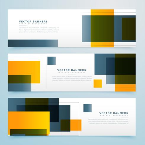 abstract geometric banner design collection