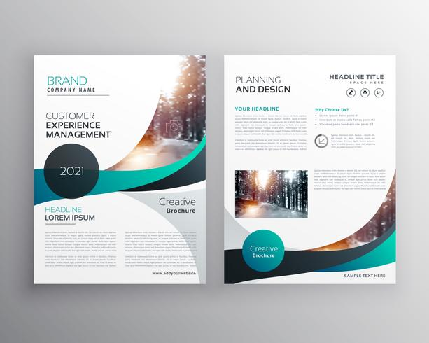 Blue Wave Business Brochure Flyer Template Design  Download Free