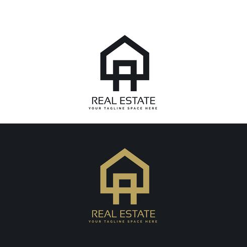 house logo design in clean minimal style