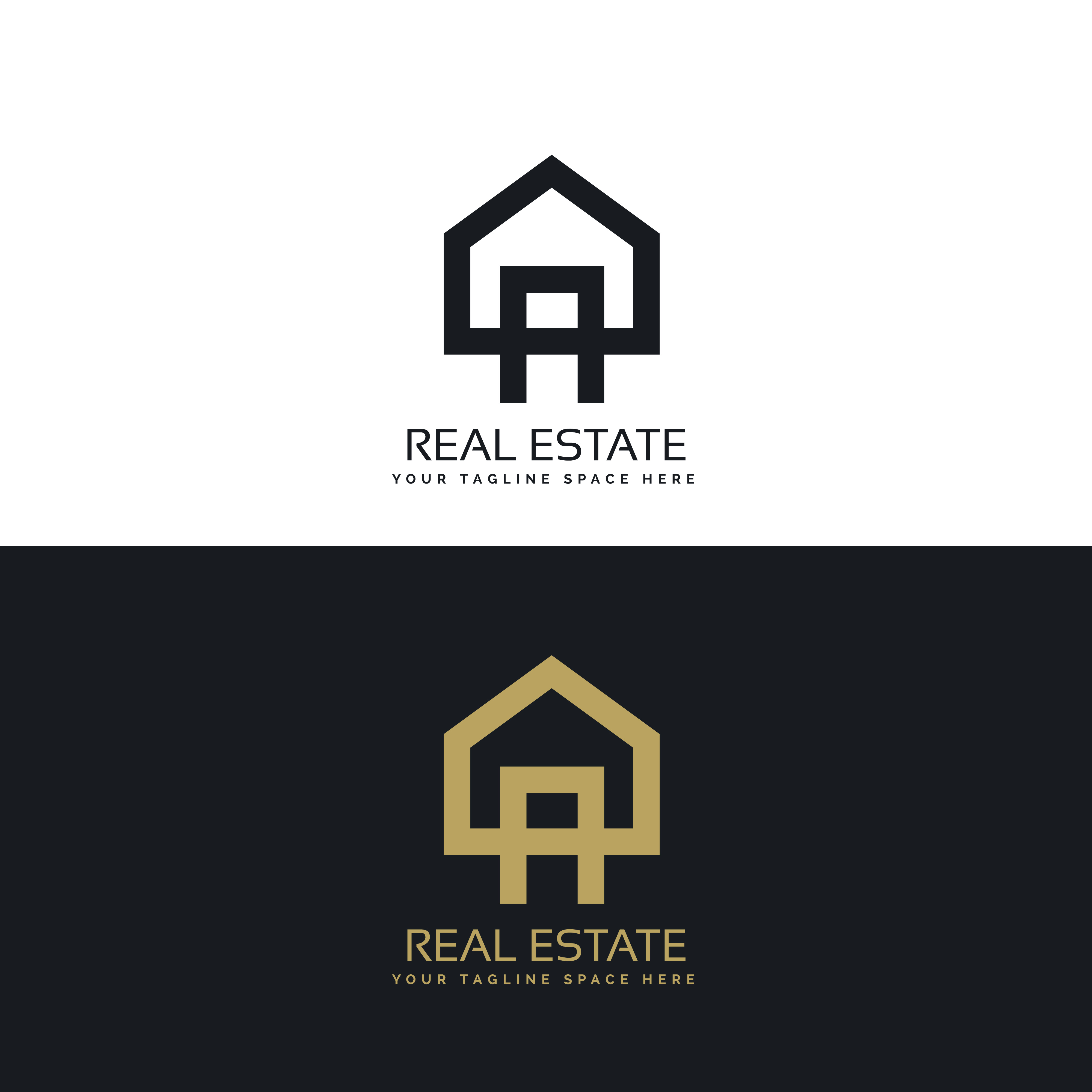 House logo design in clean minimal style download free for House logo design free