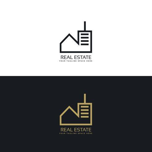 concept de design de logo immobilier moderne