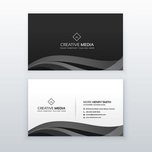 Modern professional dark business card design template in black modern professional dark business card design template in black reheart Image collections
