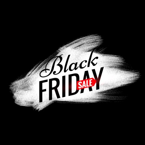 black friday sale design with white paint brush effect