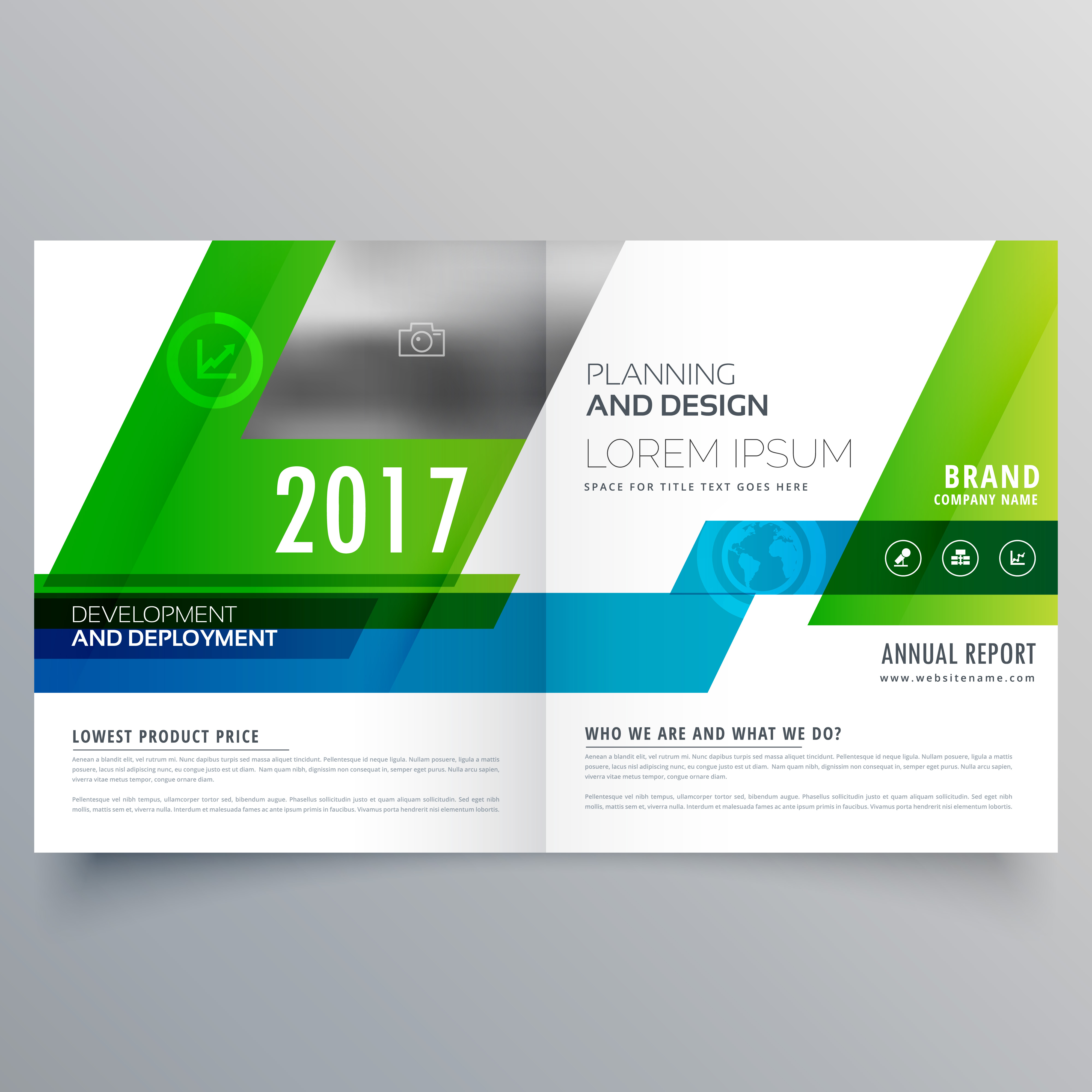 bi fold brochure templates free download - green bi fold brochure template design for your business