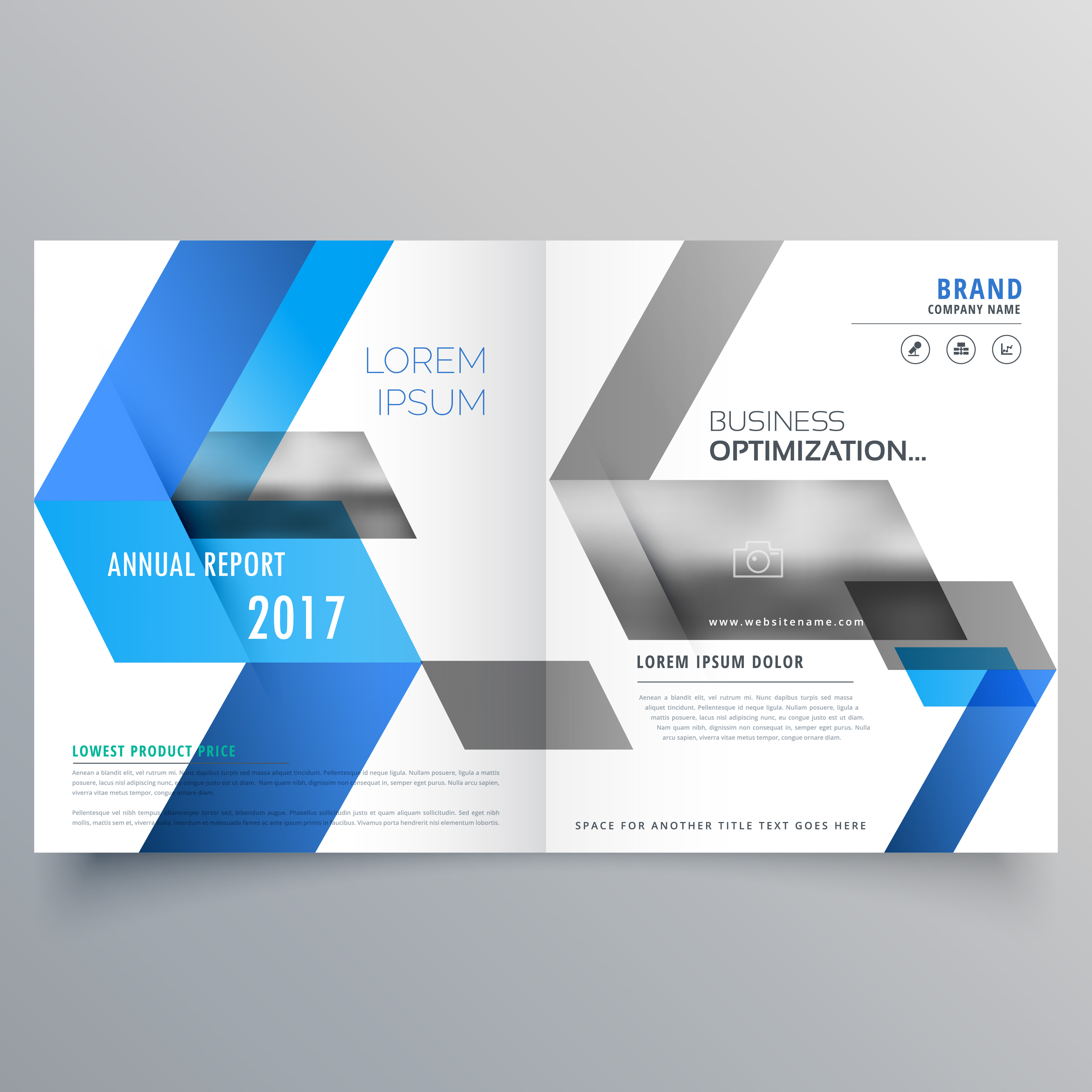 modern booklet cover page design template with abstract