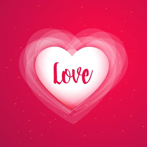 pink background with shiny love heart