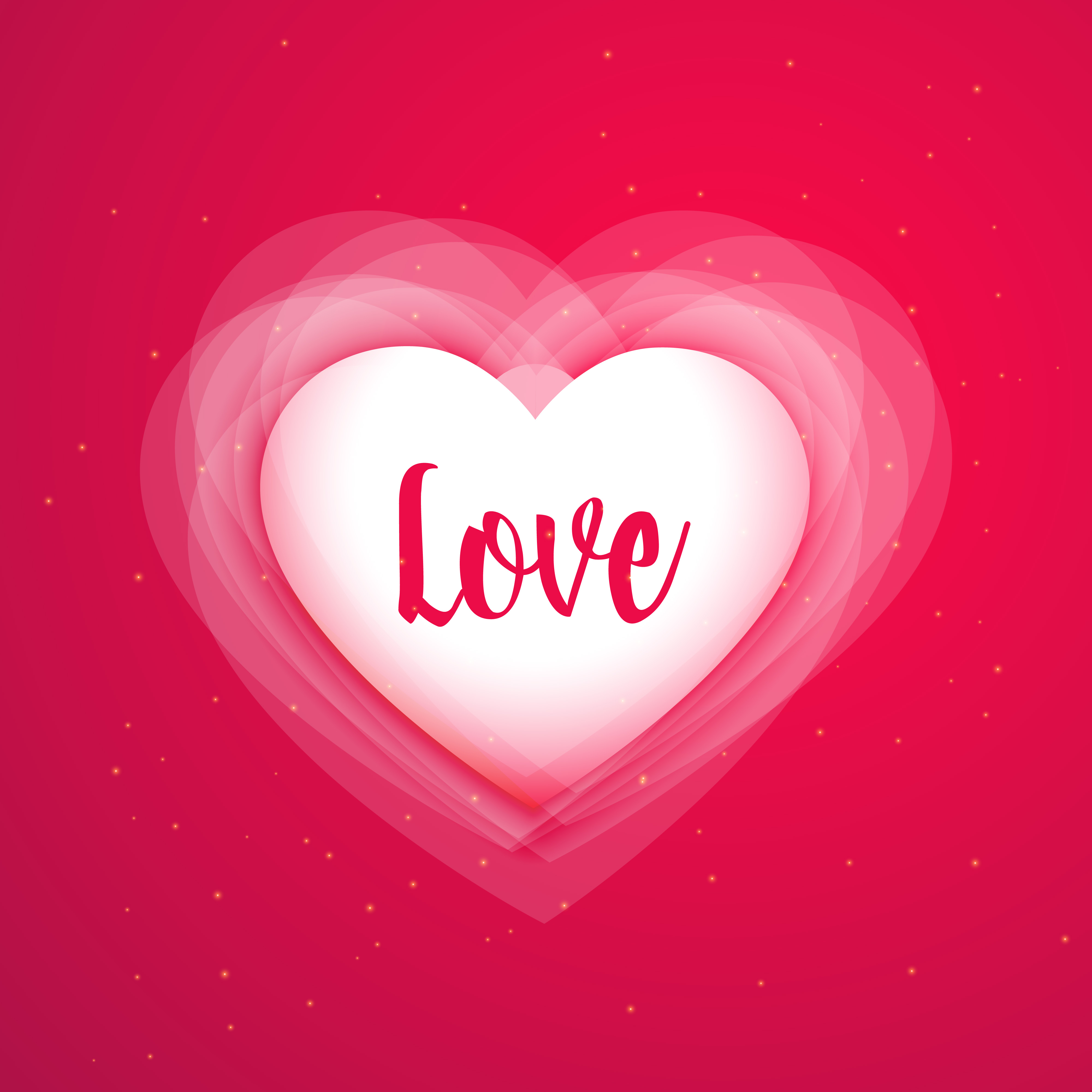 Download pink background with shiny love heart - Download Free ...