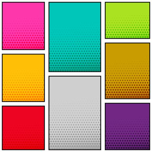 multi color comic book style vertical banner design