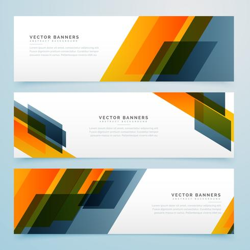geometric business banners set design
