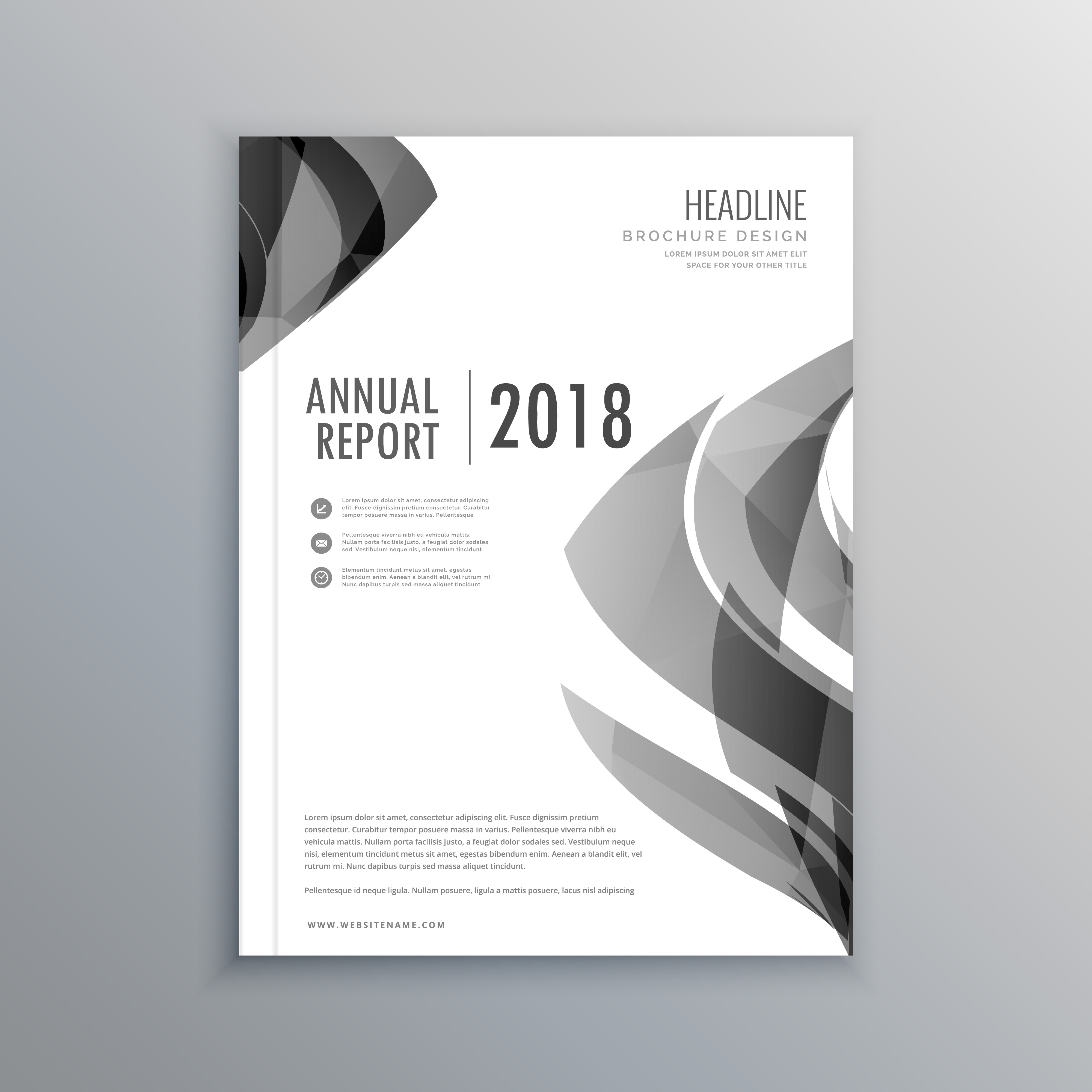 corporate business annual report brochure template