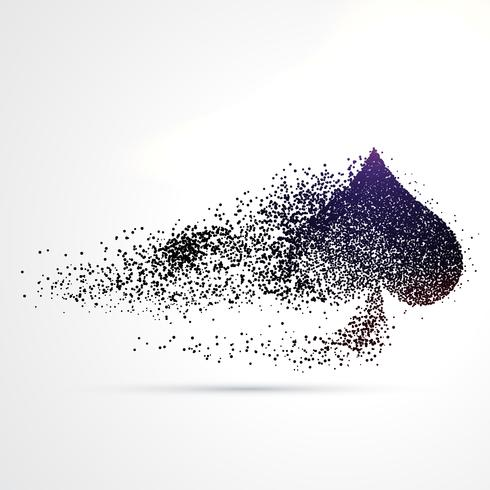 spade symbol design made with particles