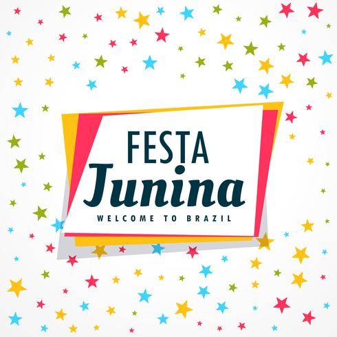 colorful festa junina holiday greeting design vector